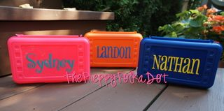 Personalized Art Pencil Box - Simple Design