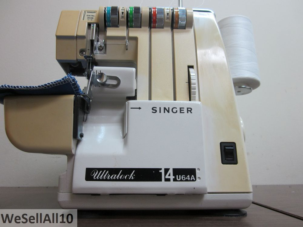 singer overlock serger sewing machine 14u 2 3 4 thread ebay. Black Bedroom Furniture Sets. Home Design Ideas